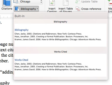 how to make reference page
