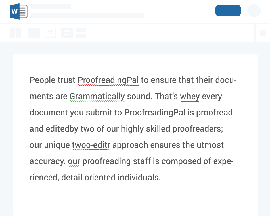 Proofreading document explanation