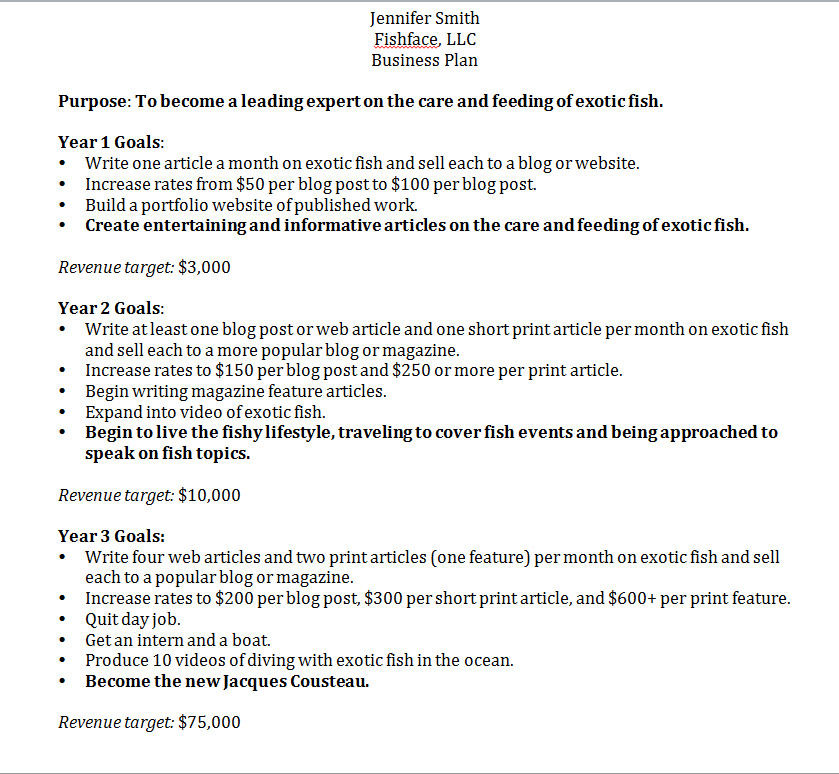 Cost for business plan writer