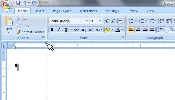how to bring up ruler in microsoft word 2017