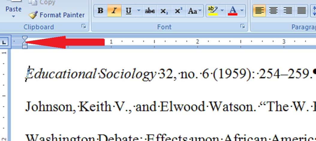 how to get rid of black indent lines on word
